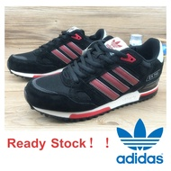 【Ready Stock】 【Original】Adidas Originals ZX750 Boost Low Cut Unisex Sport Shoes Running Kasut Sneakers Couple Black Red