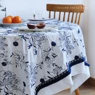 【yfei005】裁縫大叔 中國風原創繡青花高檔牡丹刺繡桌布復古文藝茶幾蓋布