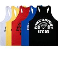 Happybuyner ผู้ชายยิมเสื้อแขนกุดเพาะกายกีฬาเสื้อยืดออกกำลังกายกล้ามเนื้อเสื้อกล้ามเสื้อผ้าเสื้อกีฬา