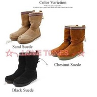 ☆╮LOVE TONES╭☆美國正品TOMS鞋『免運』Suede Trim Boots【刺繡民族風系列 雪靴