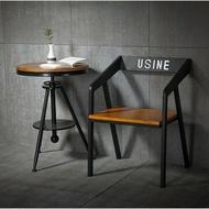 復古工業風loft餐桌椅組 美式早期酒吧休閒椅 咖啡廳酒店燒烤吧開店必備特色桌椅系列