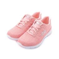 SKECHERS FLEX APPEAL 3.0 綁帶運動鞋 粉白 13064ROS 女鞋