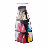 【BABY store】New Arrival 6 Pockets Hanging Storage Organizer All Size Bag Purse Clothing  Closet Space Saver