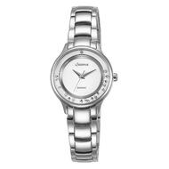 【LICORNE】力抗 永恆時光真鑽系列 天使光環璀璨手錶(白/銀 LT125LWWW)