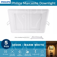 Philips Marcasite Downlight Square 12w 3000k 5pc