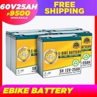 Ebike Battery 60V25Ah Compatible w/ 60V20Ah