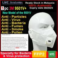 3M face mask N95 9501V+ N95 respirator (1 pcs) new improved version of the old 9501V