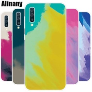 Samsung Galaxy A50 Case Silicone Watercolor Gradient TPU Soft Phone Casing Samsung A50 GalaxyA50 Back Cover