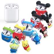 迪士尼 正版授權 Apple Airpods 立體公仔 藍牙耳機保護套 1/2代通用款(維尼/米奇/史迪奇/三眼怪/米妮)