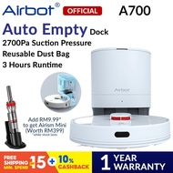 Airbot A700 Robot Vacuum Cleaner Self Cleaning Dock APP Control Robotic Sweep Mop Vacuum (12 Months Warranty / White)