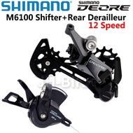 SHIMANO DEORE M6100 12 speed Groupset SL M6100 Shift Lever + RD M6100 SGS Rear Derailleur 12s mounta