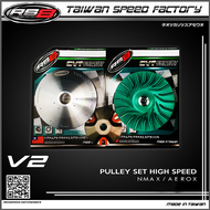 RS8 PULLEY SET WITH DRIVE FACE NMAX/AEROX V2