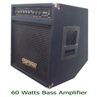 Electric Bass Guitar Amplifier , Aspire 60 Watts Tilting 60w (Alternative brand to: global nux frontline cort blackstar wire mighty davis laney mini iron fernando tony smith boston orange crush fernando acoustic rj bose boss marshall aroma peavey rage )