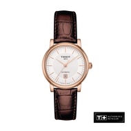 Tissot Carson Ladies' Brown Leather Strap Automatic Watch - T122.207.36.031.00
