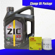 SK ZIC X7 10W-40 Fully Synthetic Oil Change Bundle for MG ZS / MG 5 / MG 6 / MG RX5 Morris Garages ( 4 Liters + Oil Filter )