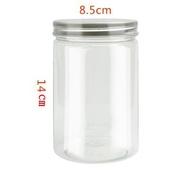 8.5*14cm銀鋁蓋密封罐 塑膠罐 透明罐 收納罐