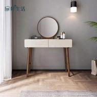 【hoi!】林氏木業簡約實木框亮光漆面化妝桌 BA2C