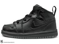 海外入荷 台灣未發售 2015 NIKE JORDAN 1 RETRO MID TD BT BLACK GREY 幼童鞋 BABY 鞋 全黑 灰底 黑灰 AJ 一代 AIR (640735-021) !