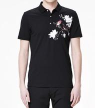 FINDSENSE MD 韓國 男 街頭 時尚 潮 翻領 POLO衫 個性花鳥圖案 短袖T恤 特色T恤