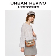 URBAN REVIVO2019秋冬新品青春女士配饰格纹斜挎包AU46SB4S2000