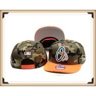 MLB 可調節棒球帽 全封閉大號板帽 Baltimore Orioles 金鶯