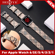 สาย หนังแท้ For Apple Watch 6 SE band 44 mm 40mm Leather Strap 42mm 38mm Leather Band สายหนัง Replacement watchband for apple watch series 6 5 4 3 2 SE ทุกซีรีย์ Watch Strap acceccories