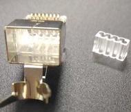 台製大孔徑 CAT.6A CAT6A 水晶頭 FTP超六類屏蔽水晶頭 二件三叉式 50u 不限量 適合粗線