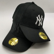 Original MLB NY Korean Gesture Embroidery Baseball Cap Outdoor Visor Cap