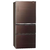 【Panasonic 國際牌】610公升 三門變頻無邊框玻璃電冰箱 NR-C619NHGS-T 翡翠棕