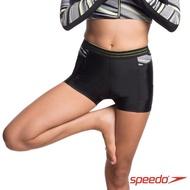 【SPEEDO】H2O 女 運動水陸兩用平口褲 Reflect Wave Sport Short(黑/條紋)