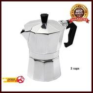 หม้อชงกาแฟมอคค่าพอท 3 คัพ 150ml Moka POT อุปกรณ์ทำกาแฟ ทำกาแฟ เครื่องชงกาแฟ กาแฟคั่วบด กาแฟสด ฟรี ของแถม