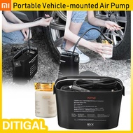 XIAOMI 70mai 12V Portable Vehicle-mounted Air Pump Air Compressor Tire Repair Tool Electronic Adapte