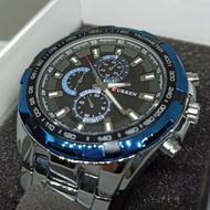 CURREN 卡瑞恩 裝飾三眼 鋼帶錶 CP值高