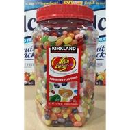美兒小舖COSTCO好市多代購~KIRKLAND Jelly Belly 彩色豆水果軟糖/雷根糖(1.8kg/罐)