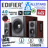 (ALLSTARS : We are Back Promo) Edifier S350DB 2.1 150W Bluetooth Active Speaker /Titanium Dome Tweeters/ 8-Inch Booming)