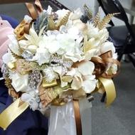 珠寶乾燥花新娘捧花