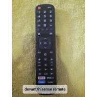 devant/hisense smart tv remotecontrol