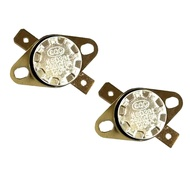 Loviver 2pcs KSD301 Thermostat Normal Closed Temperature Thermal Control Switch 250V