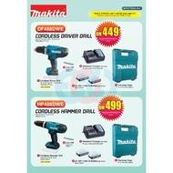 Makita 18V Combo DF488DWE / HP488DWE Cordless Driver Drill / Hammer Impact Drill + BL1815G Battery X2 + DC18WA Charger