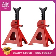 SKPLUS 3T 2pcs Thickened Car Jack Stand Repair Tool Adjustable Heavy Height Duty Floor Metal Jacks Jek Kereta ??? ????? - Fulfilled By SKPLUS