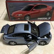 1:18 原廠馬自達3 Mazda 3模型車 全新盒裝 絕版藍