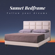 ★Cozyroom★Sunset Faux Leather Bed Frame Available in Single Super Single Queen King Sizes