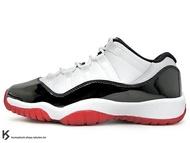 2020 經典復刻 創新配色 NIKE AIR JORDAN 11 RETRO LOW GS BG CONCORD BRED 大童鞋 女鞋 低筒 白黑紅 亮皮 皮革 AJ XI (528896-160) !