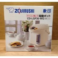 全新【日本製】ZOJIRUSHI 台灣象印 3公升 3L 寬廣視窗微電腦電動熱水瓶(CD-LGF30) 下單請先詢問