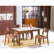 【IS空間美學】可莉雅柚木石面餐桌椅組  2015-S-432-03