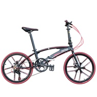 Hito X6 20/22-inch Double Tube Folding Bicycle Ultra-light Magnesium Alloy Portable Disc Brake Adult Road Foldable Bike Free Installation