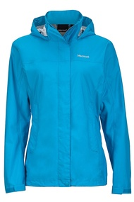 【【蘋果戶外】】Marmot 46200-2264 水藍 美國 女 PreCip 土撥鼠 防水外套 類GORE-TEX 防風外套 風衣雨衣 風雨衣