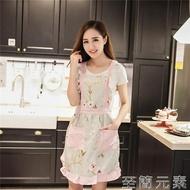純棉圍裙韓版時尚可愛公主圍裙背心式家用廚房女士做飯雙層工作服 至簡元素