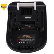 DM18M Battery Adapter for Dewalt 18V -20V Battery Convert to for Makita 18V-20V Battery
