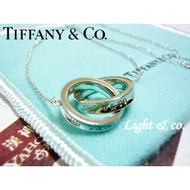 【Light & co.】專櫃真品 TIFFANY & CO 925純銀 雙1837 戒指 雙戒 雙環 双環 雙圈 項鍊